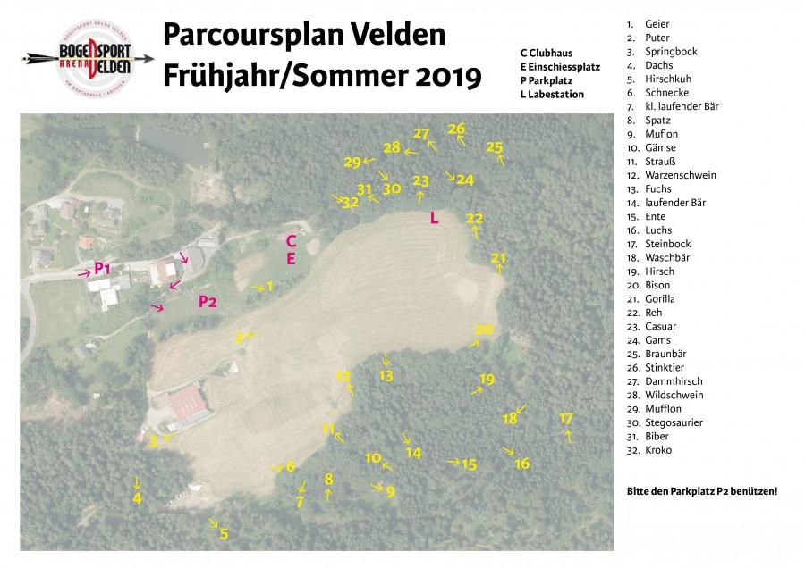Parcourplan Sommer 2019